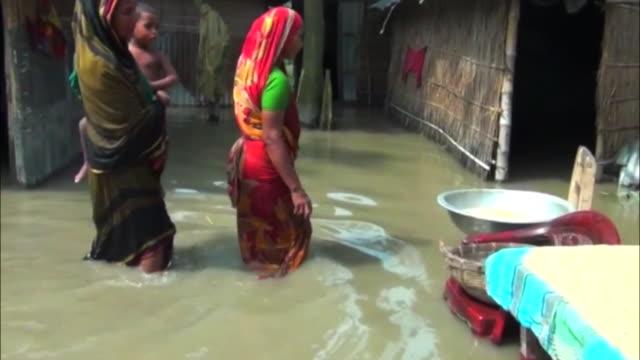 heavy flooding in northern bangladesh - bangladesh stock videos & royalty-free footage