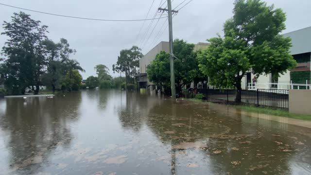 heavy flooding inundates a house in windsor after extreme weather hit the area on march 22, 2021 in sydney, australia. several western suburbs in the... - flood stock videos & royalty-free footage
