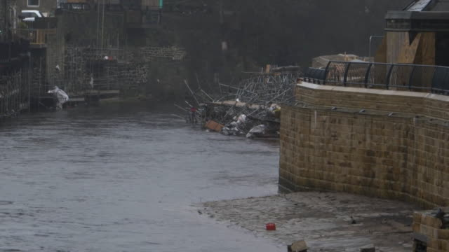 heavy flooding on the river ouse in york - river ouse stock videos & royalty-free footage
