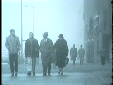 Heavy Fog In Downtown Chicago In 1959