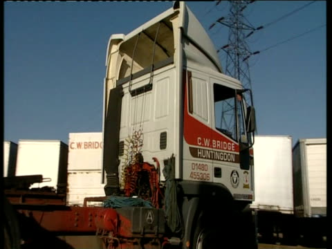 Heavy Good Vehicle cab reversing and loading freight