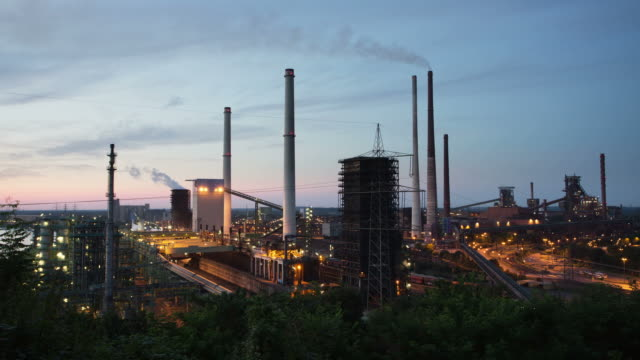 time lapse: industria pesante - ruhr video stock e b–roll
