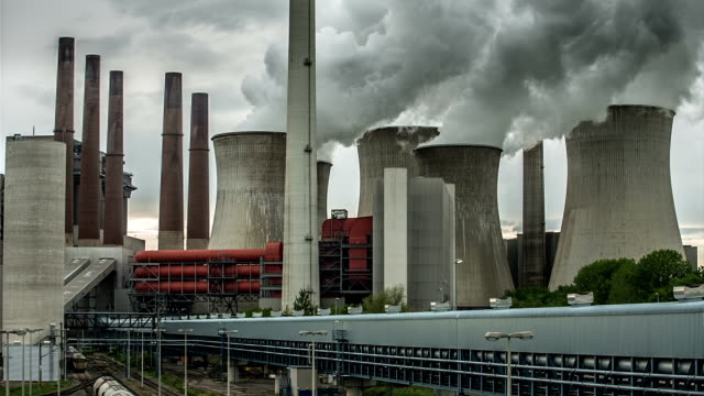 heavy industry - coal fired power station stock videos & royalty-free footage