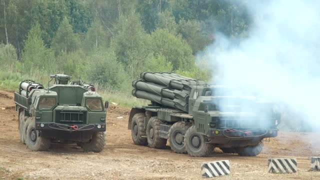 heavy multiple rocket launchers - armored truck stock videos and b-roll footage