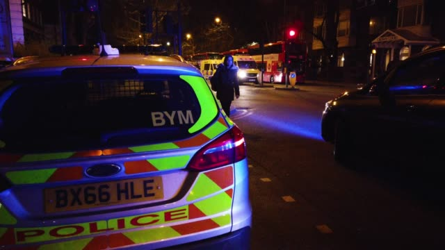 heavy police presence near regents park mosque following a nearby fatal stabbing on march 28 2019 in london england police are working at the scene... - london central mosque stock videos & royalty-free footage
