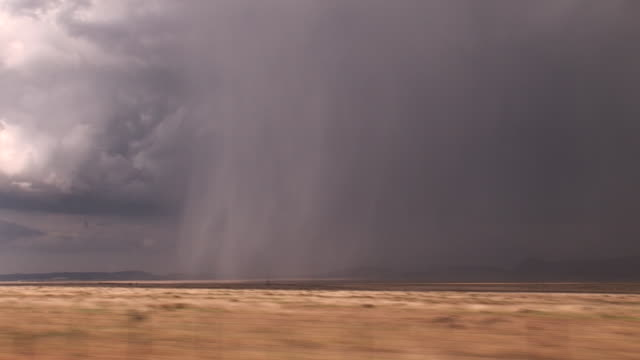 heavy rain and hail as viewed from speeding car, pov, usa - prairie stock videos and b-roll footage