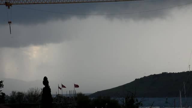 heavy rain causes flooding in the bodrum district of turkey's southwestern mugla province on december 16 2018 - mugla province stock videos and b-roll footage