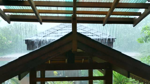 heavy rain falling on a roof - roof stock videos & royalty-free footage
