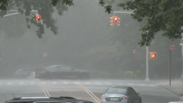 Heavy Rain Falling, Vehicle Traffic