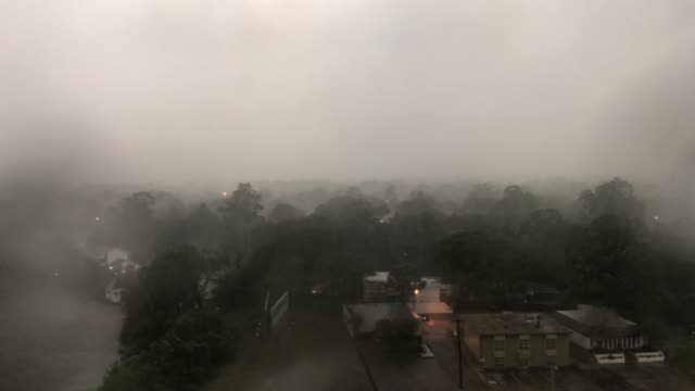 vidéos et rushes de heavy rain falls during hurricane delta on october 9, 2020 in lafayette, louisiana. residents along the gulf coast are bracing for hurricane delta... - gulf coast states
