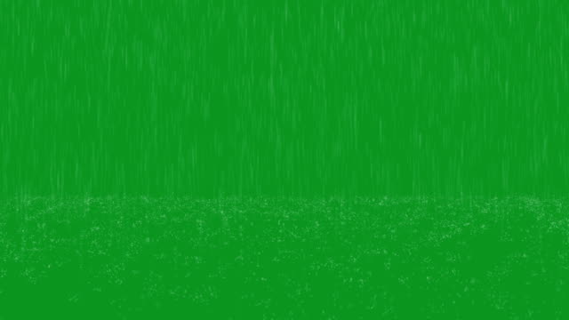 heavy rain green screen loop - pioggia video stock e b–roll