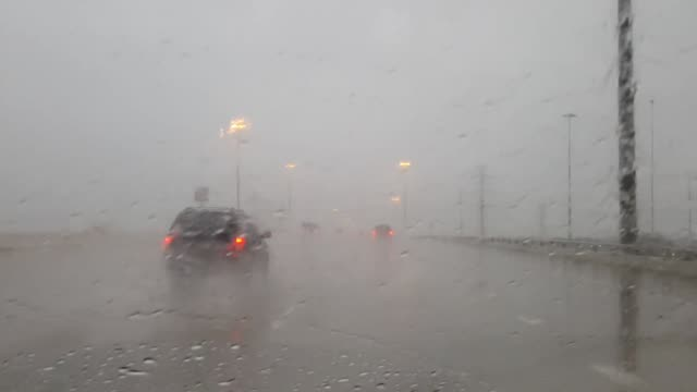 heavy rain in houston, video of deluge and wet roadways. - wet wet wet stock videos & royalty-free footage