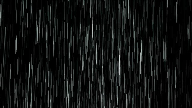 heavy rain isolated over black, loopable. - matte image technique stock videos & royalty-free footage
