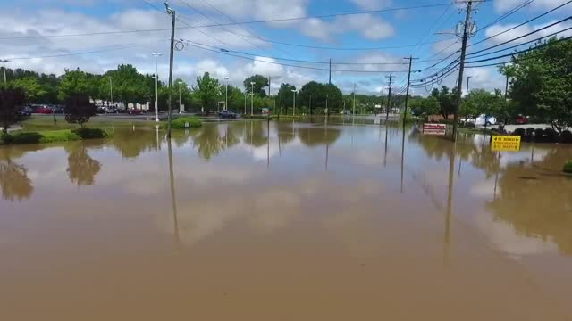 heavy rain led to widespread flooding and road closures in raleigh, north carolina, on tuesday, april 25. the national weather service issued a flash... - north carolina us state stock videos & royalty-free footage