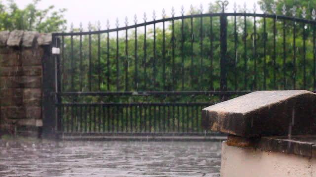 heavy rain - europe stock videos & royalty-free footage