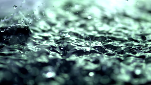 heavy rain (super slow motion) - spring flowing water stock videos & royalty-free footage
