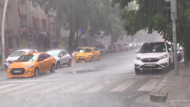 Heavy rainfall in Turkish capital Ankara causes the flooding on May 06 2018
