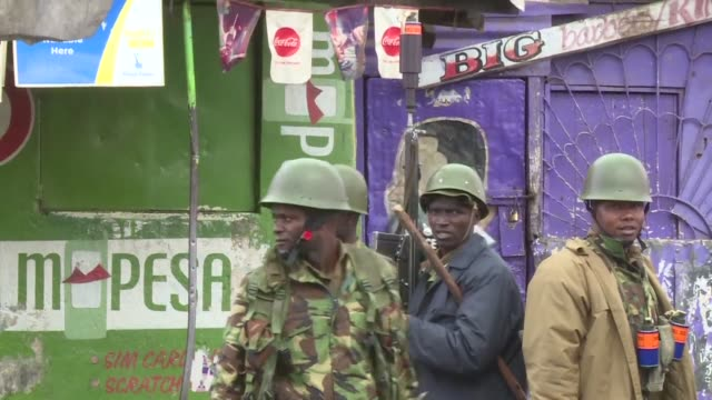 heavy security as polls open in a repeat presidential election in kenya that is mired in uncertainty as opposition leader raila odinga calls on his... - raila odinga stock videos and b-roll footage