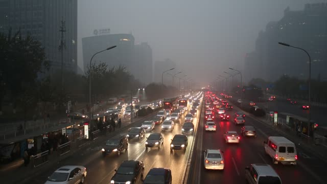 Heavy smog attack Beijing on Nov 29 2014