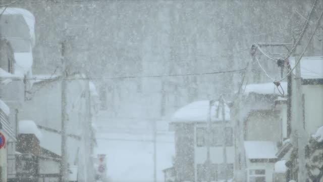 Heavy snow in Hokkaido, Japan