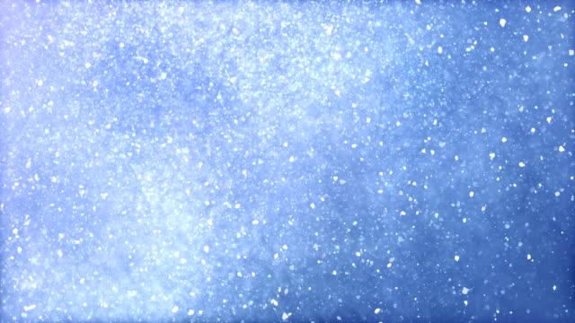 heavy snow / snow storm / blizzard (light blue) with luma/alpha matte to separate foreground - loop - ghiacciato video stock e b–roll