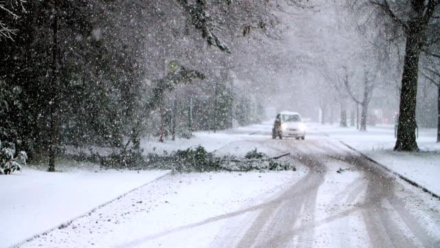 Heavy Snowfall in Slow Motion