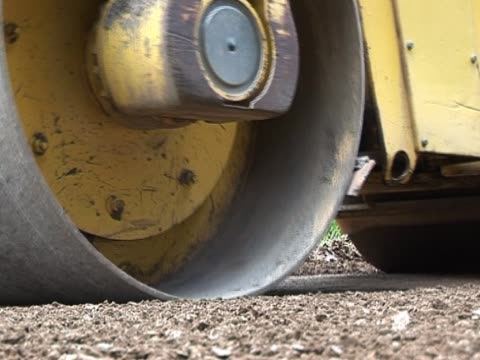 heavy steamroller / roadroller - steamroller stock videos and b-roll footage