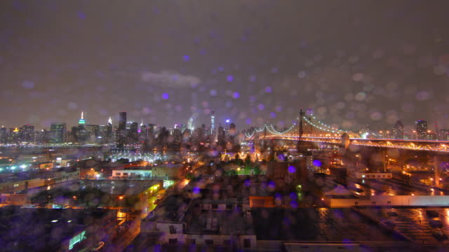 NYC heavy Storm time lapse video 4K