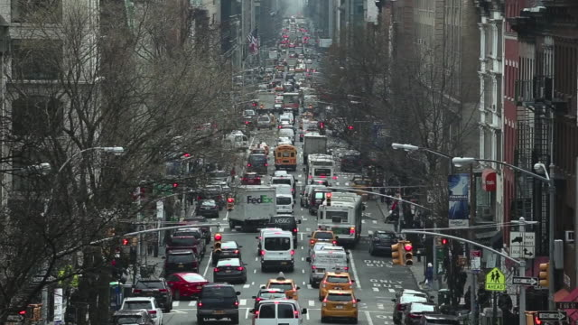 heavy traffic in manhattan - manhattan new york city stock videos & royalty-free footage