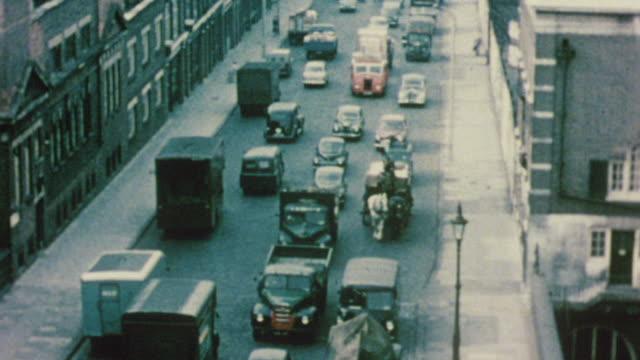 1956 ha heavy traffic / london, england - colour image stock videos & royalty-free footage