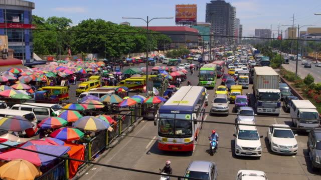 Heavy Traffic Manila Philippines