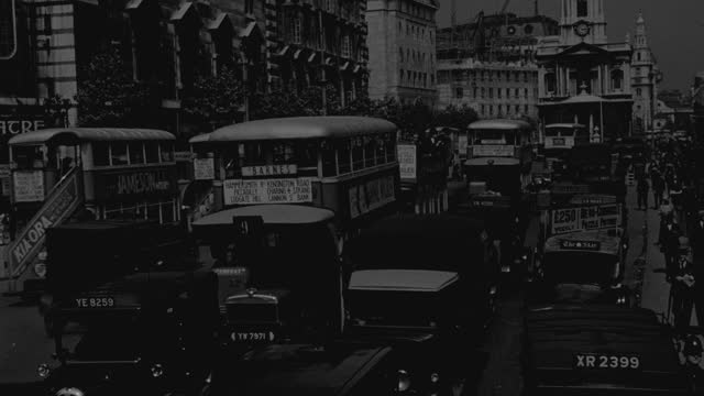 heavy traffic moves through london. - 1 minute or greater stock videos & royalty-free footage