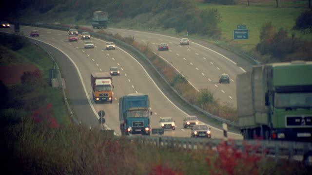 Heavy traffic on Autobahn / Germany