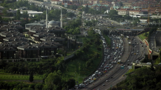 Heavy Traffic On Istanbul Motorway