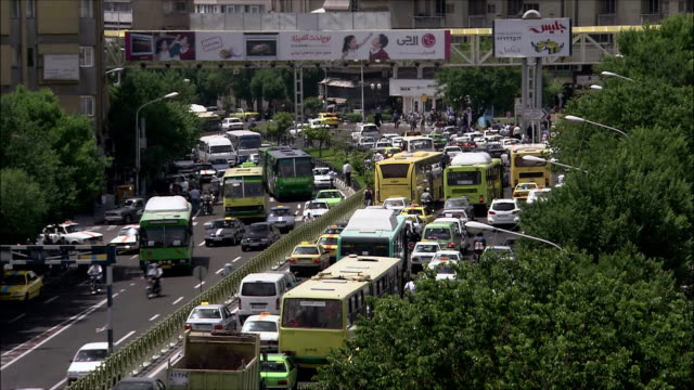 WS HA Heavy traffic on street, Tehran, Iran