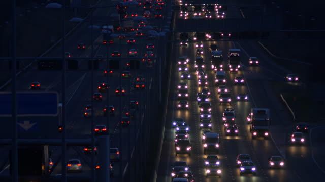 heavy traffic on the m1 motorway. - motorway stock videos & royalty-free footage