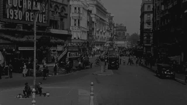 heavy traffic streams along london's regent street. - double decker bus stock videos & royalty-free footage