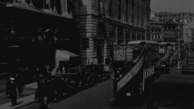 heavy traffic streams through london. - double decker bus stock videos & royalty-free footage