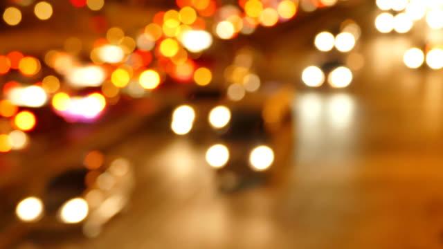 defocus: heavy traffic - motorway junction stock videos & royalty-free footage