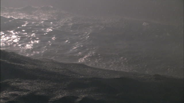 cu pan heavy waves in ocean during storm / county cork, munster, ireland - county cork stock videos & royalty-free footage