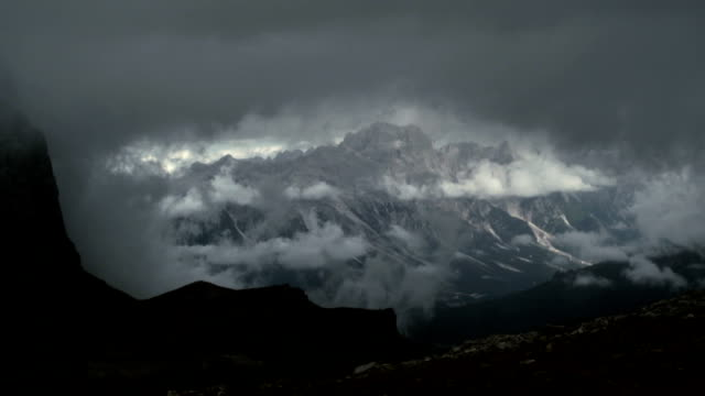 heavy weather in the dolomites mountains pan - world war one stock videos & royalty-free footage