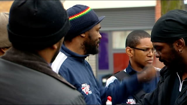 build up to haye v harrison fight harrison at gym england london ext heavyweight boxer audley harrison and support team from car at gym as they... - world title stock videos and b-roll footage