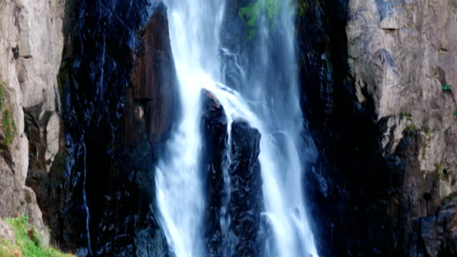 heawnarok waterfall - recreational horseback riding stock videos & royalty-free footage
