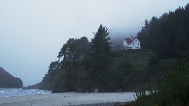 heceta beach state park beach oregon close - oregon coast stock videos & royalty-free footage