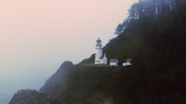 Heceta Beach State Park beach Oregon lighthouse