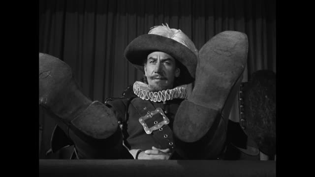 heckling cyrano de bergerac (josé ferrer) insults an actor's performance at a theater - josé ferrer actor stock videos & royalty-free footage