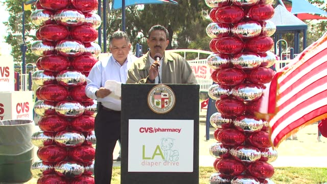 hector barrone district manager cvs at the cvs/pharmacy 'la's biggest playdate' at los angeles ca - cvs caremark stock videos and b-roll footage