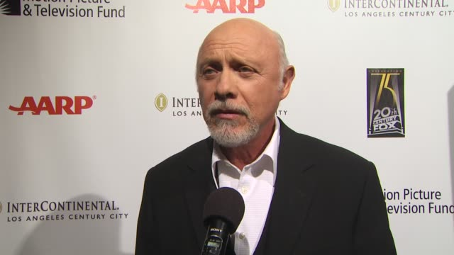 interview hector elizondo on being involved in tonight's benefit on the work the motion picture and television fund does on if he prefers broadway or... - motion picture & television fund stock videos & royalty-free footage