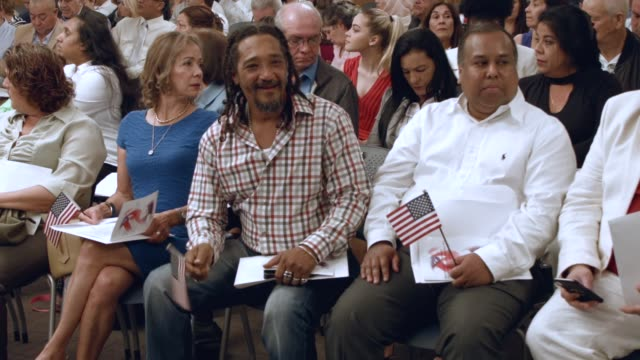hector morejon orginally from cuba and others become american citizens during a us citizenship immigration services naturalization ceremony at the... - hialeah stock videos & royalty-free footage