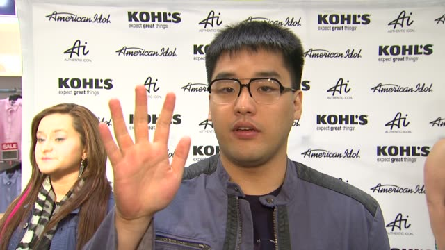 hee jun han on why he is there fashion inspirations and upcoming tour at american idol season 11 contestants appear at los angeles kohl's for... - american idol stock videos and b-roll footage